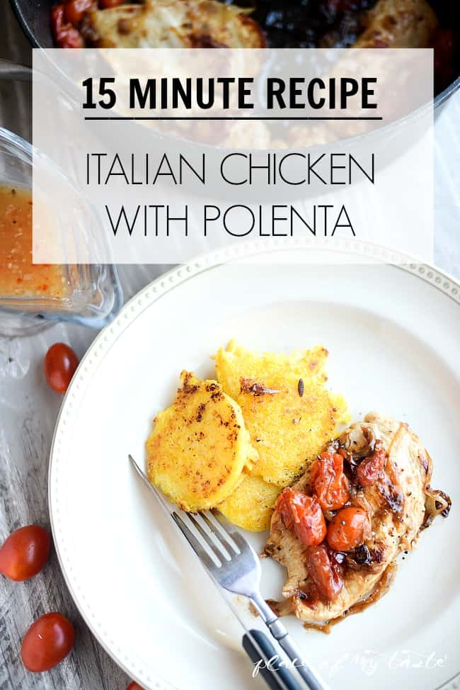 Italian Chicken with polenta-