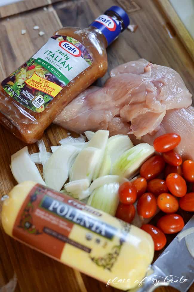 Italian Chicken with polenta-1