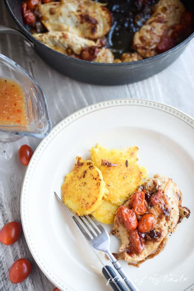 Italian Chicken with polenta-4