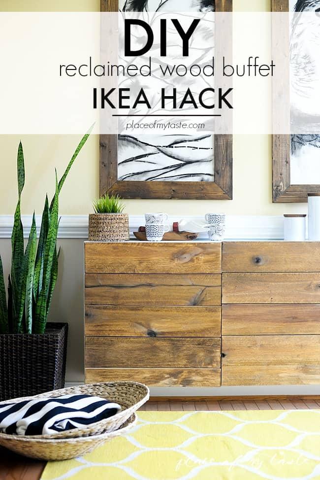 Reclaimed Wood Buffet  IKEA HACKS Part 75