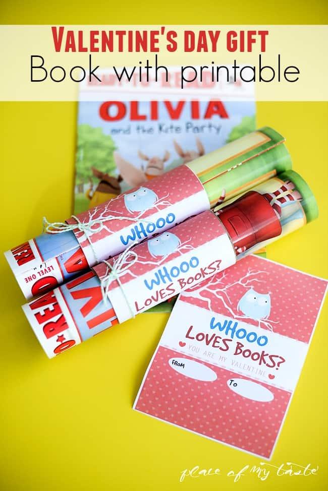 Whooo loves books valentine gift