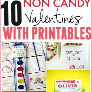 10 NON CANDY VALENTINES WITH PRINTABLES
