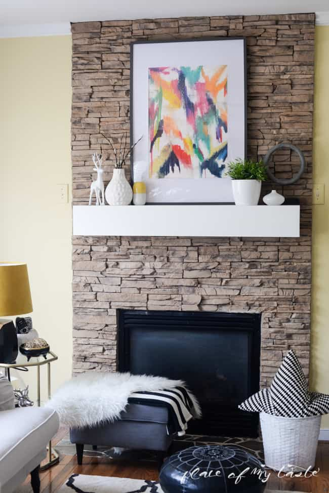 DIY FIREPLACE MANTEL- Placeofmytaste.com-1