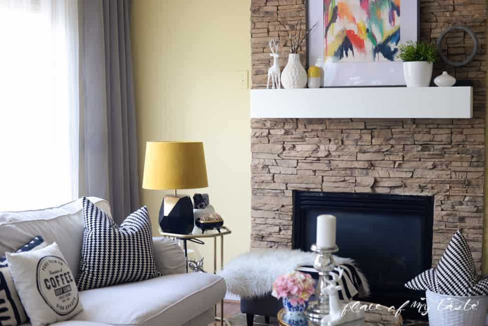 DIY FIREPLACE MANTEL- Placeofmytaste.com-8