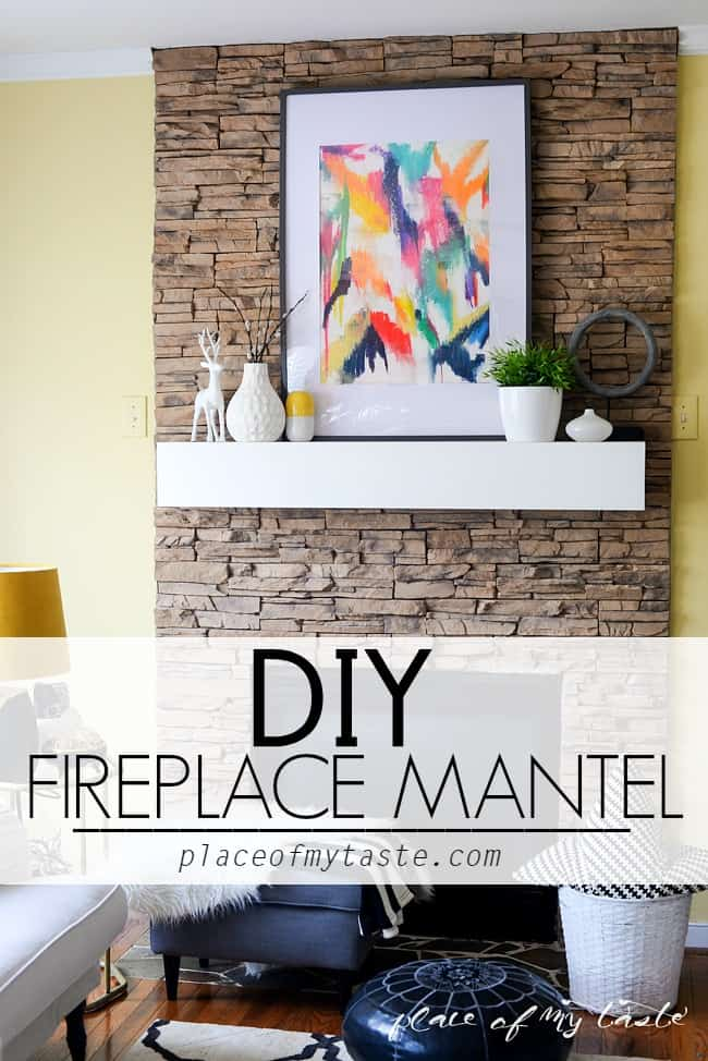 DIY FIREPLACE MANTEL- Placeofmytaste.com