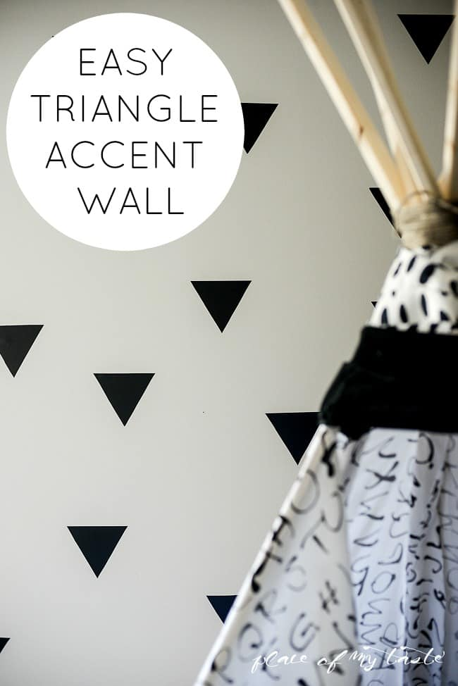 Easy Triangle accent wall