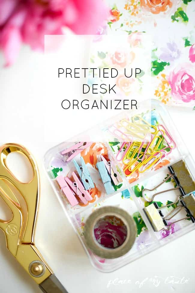 Pretty DIY Desk Organizer