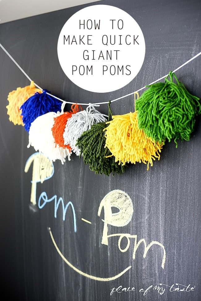 Quick GIANT Pom Pom.
