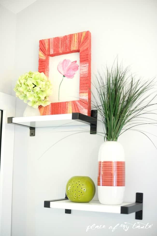 Quick wall art with styro foam-13