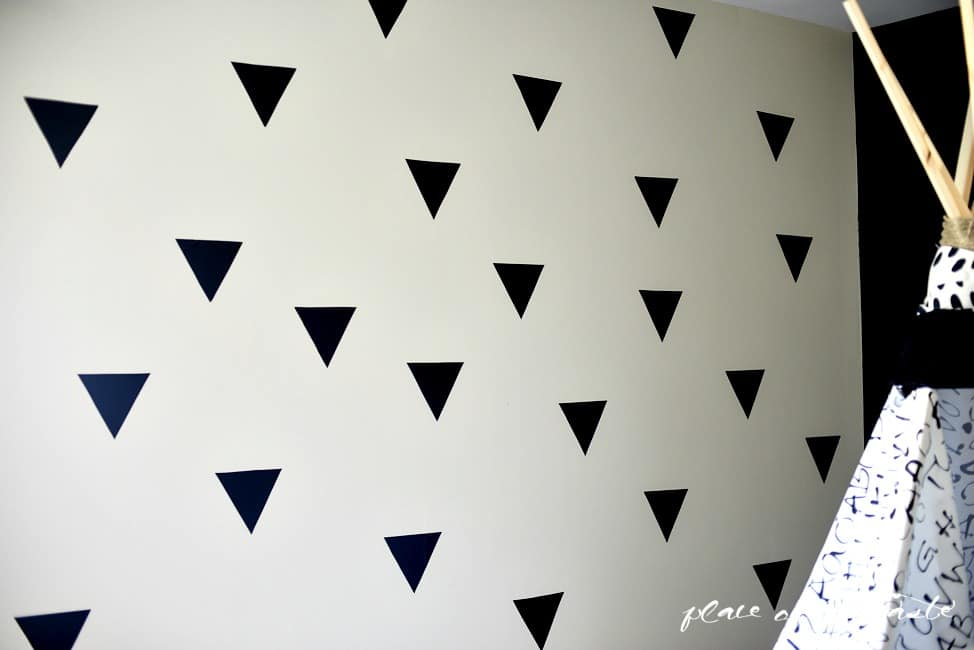 Triangle accent wall (3)