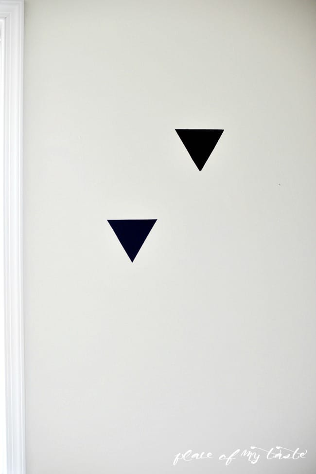 Triangle accent wall (4)