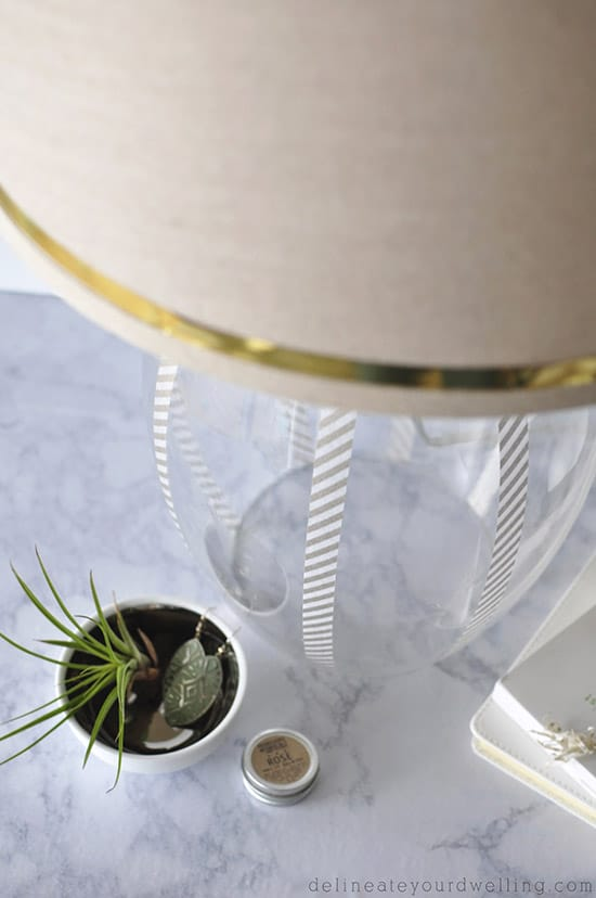 Washi Updated Glass Lamp, Delineateyourdwelling.com