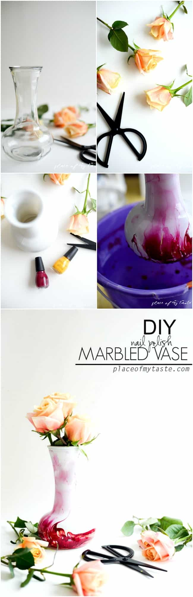 DIY marbled vase-