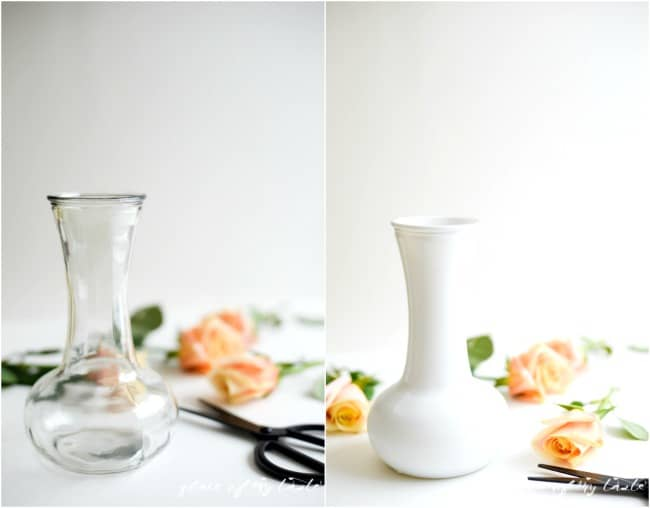 DIY nails polsih marbled vase