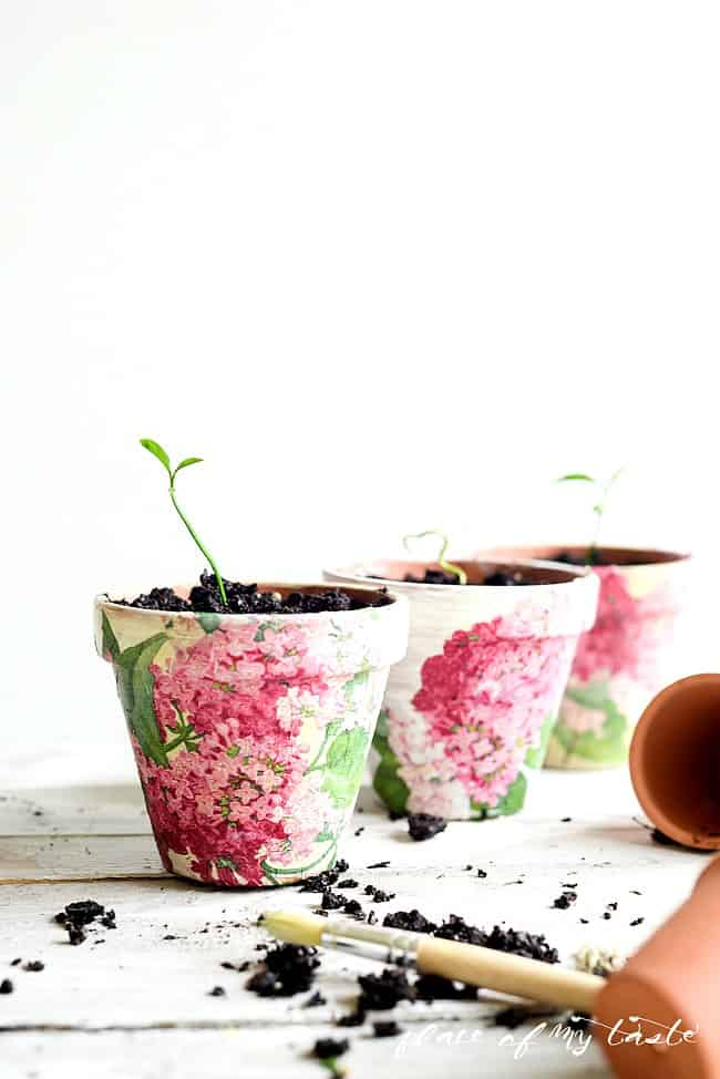 Decoupaged Terra Cotta Pots-19