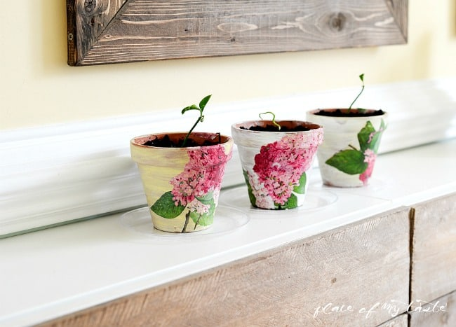 Decoupaged Terra Cotta Pots-20