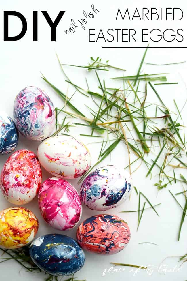 Marbled easter eggs-