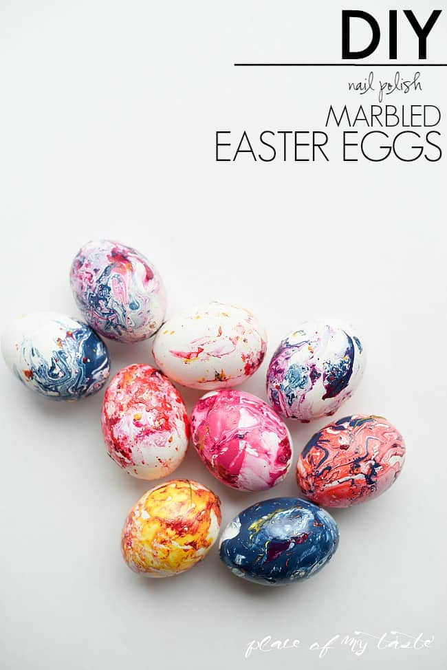 Marbled easter eggs-Place of my taste