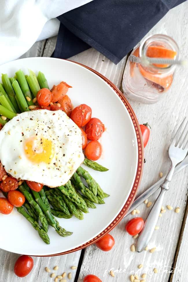Warm Asparagus & Tomato Salad