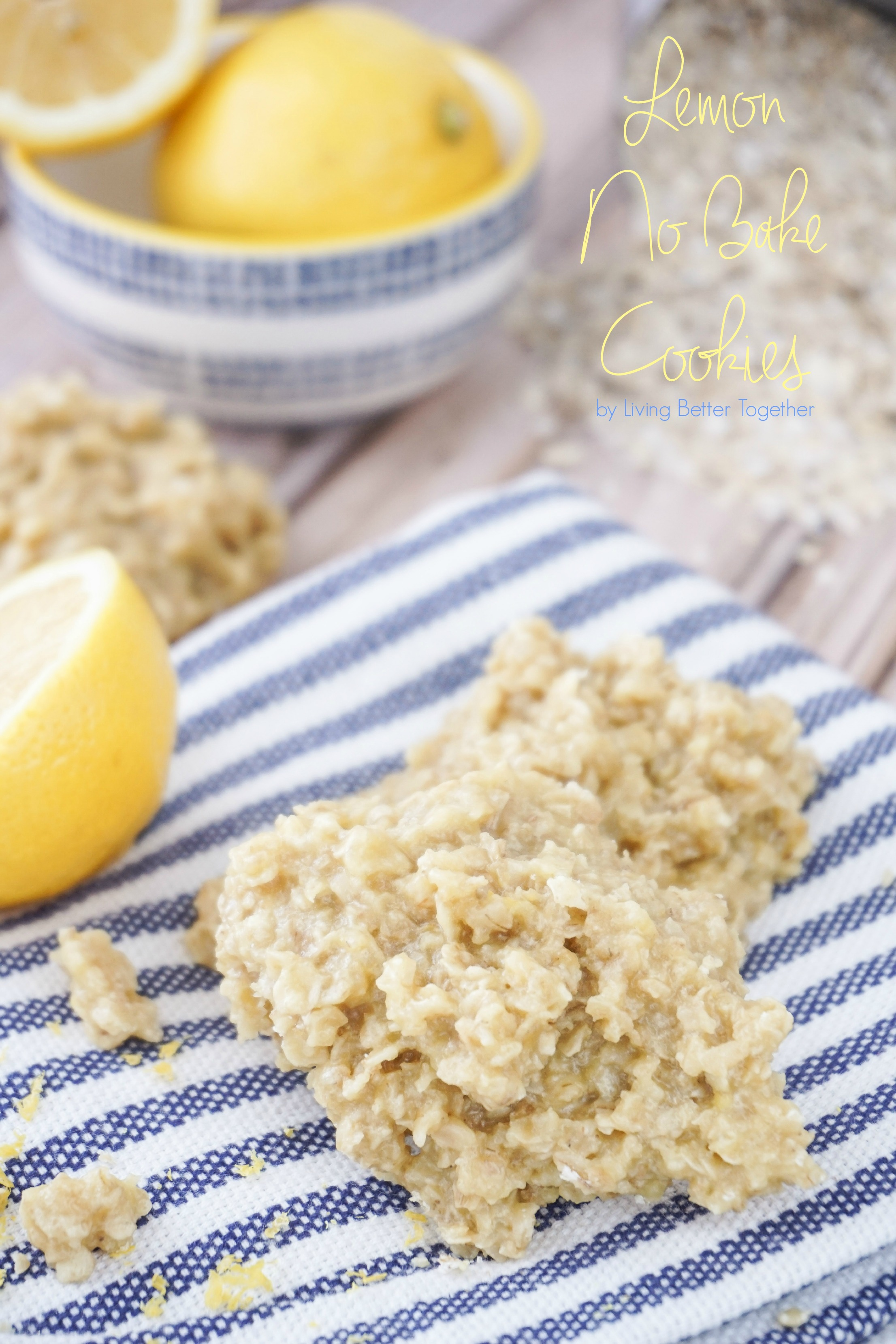 Lemon No Bake Cookies
