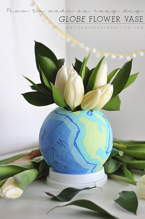 DIY Globe Flower Vase