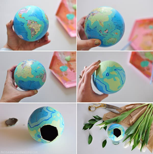 How To Make A Flower Vase Out Of Paper Diy Globe