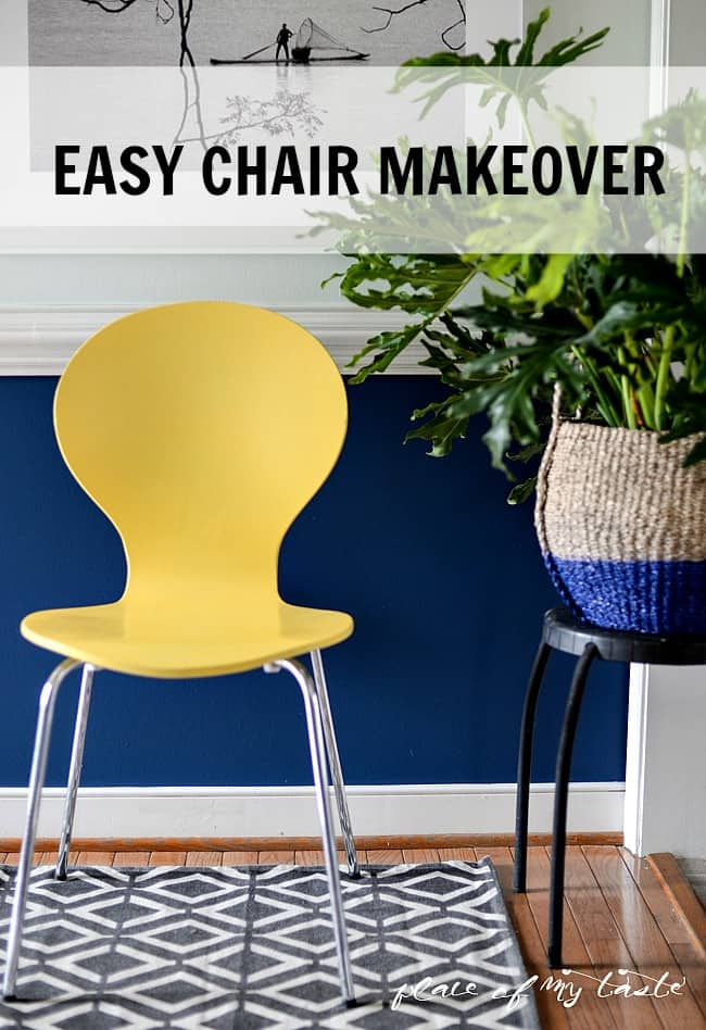 Hello Yellow- Chair Makeover-