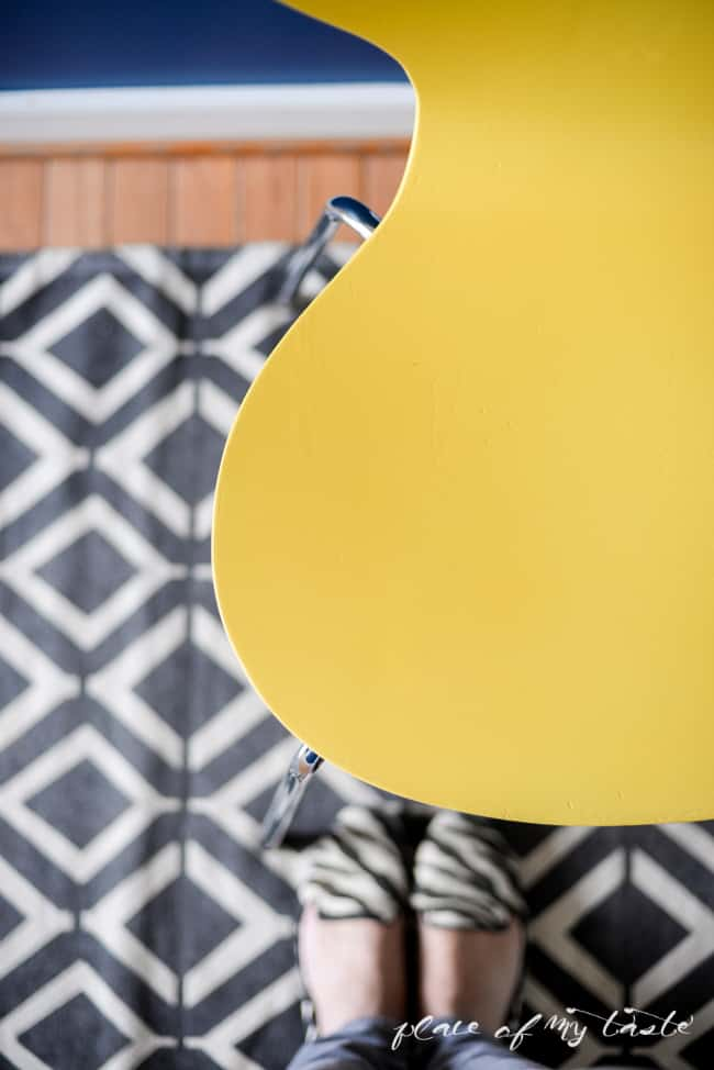 Hello Yellow- Chair Makeover-7