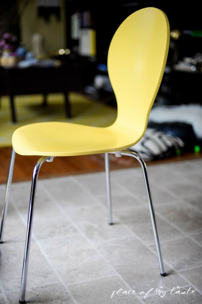 Hello Yellow- Chair Makeover-9