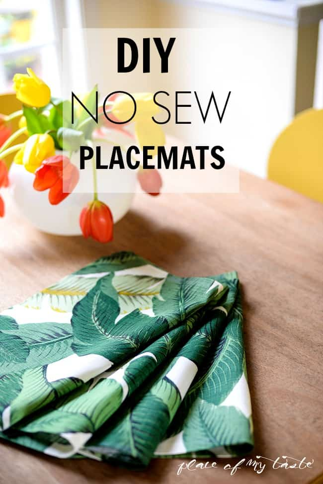 NO SEW placemats