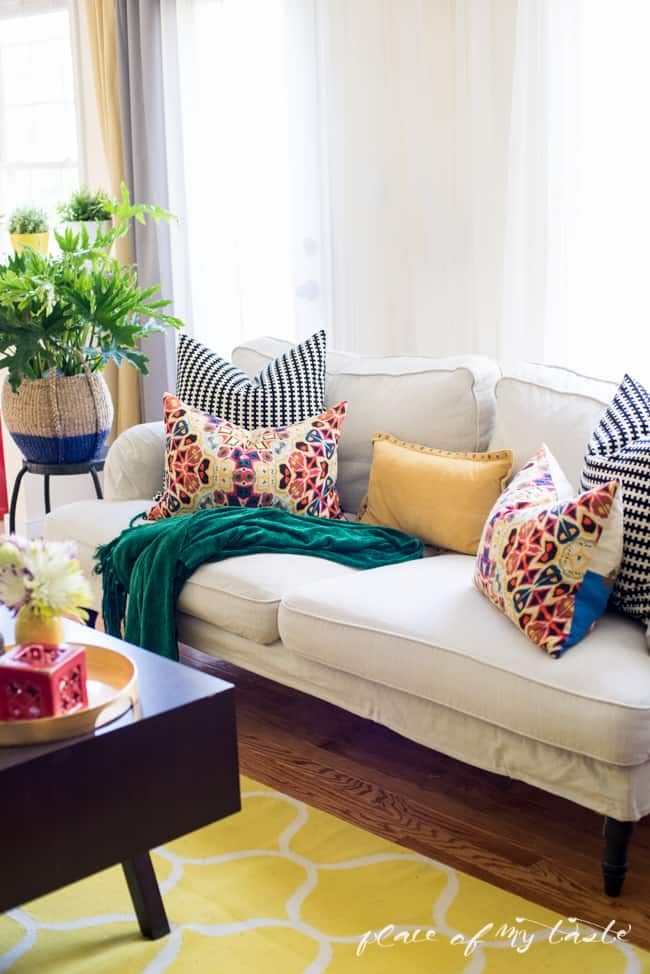 pillows for living room refresh stylin home tours place of my 12820