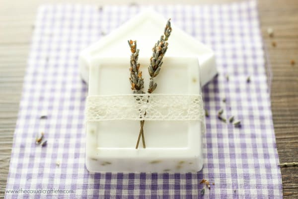 Homemade Lavender Soap Recipe using a goats milk base