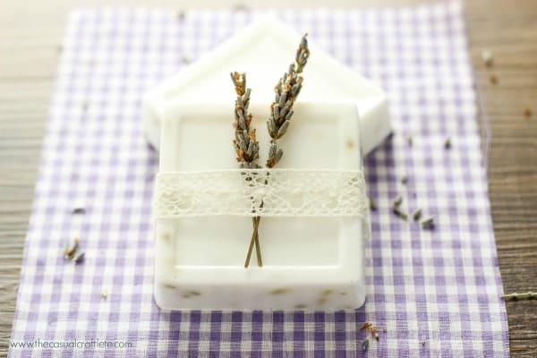 Homemade Lavender Soap Recipe using a goats milk base
