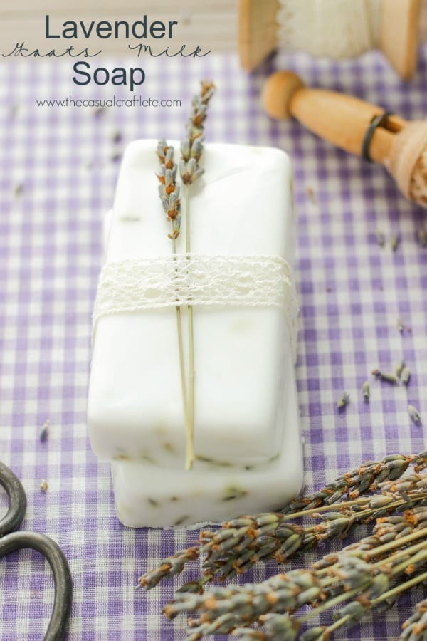 Lavender Goats Milk Soap Recipe - easy to make diy soft soothing soap that smells amazing.