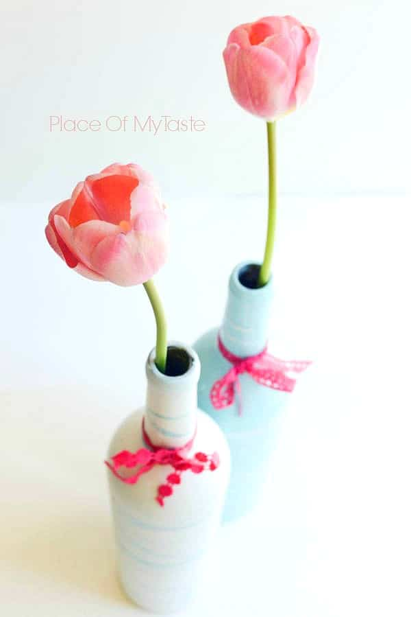 Painted Wine Bottles and mother's day printable by Place Of My Taste (3 of 9)