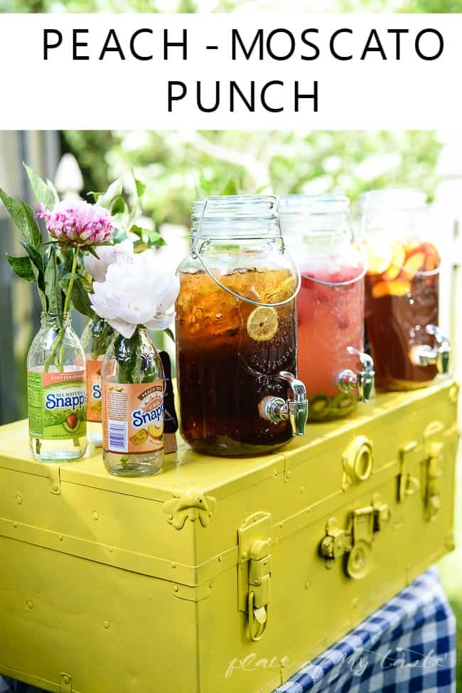 PEACH – MOSCATO PUNCH and FUN SUMMER DRINK STATION
