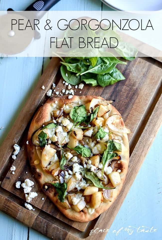 Pear and Gorgonzola Flatbread-