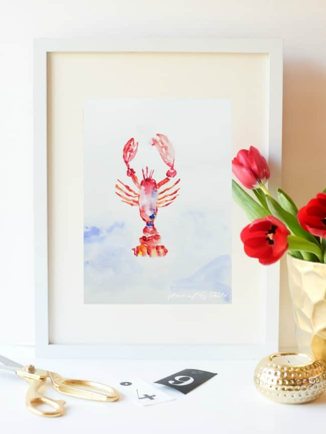 QUICK BATHROOM REFRESH- FREE WATERCOLOR ART