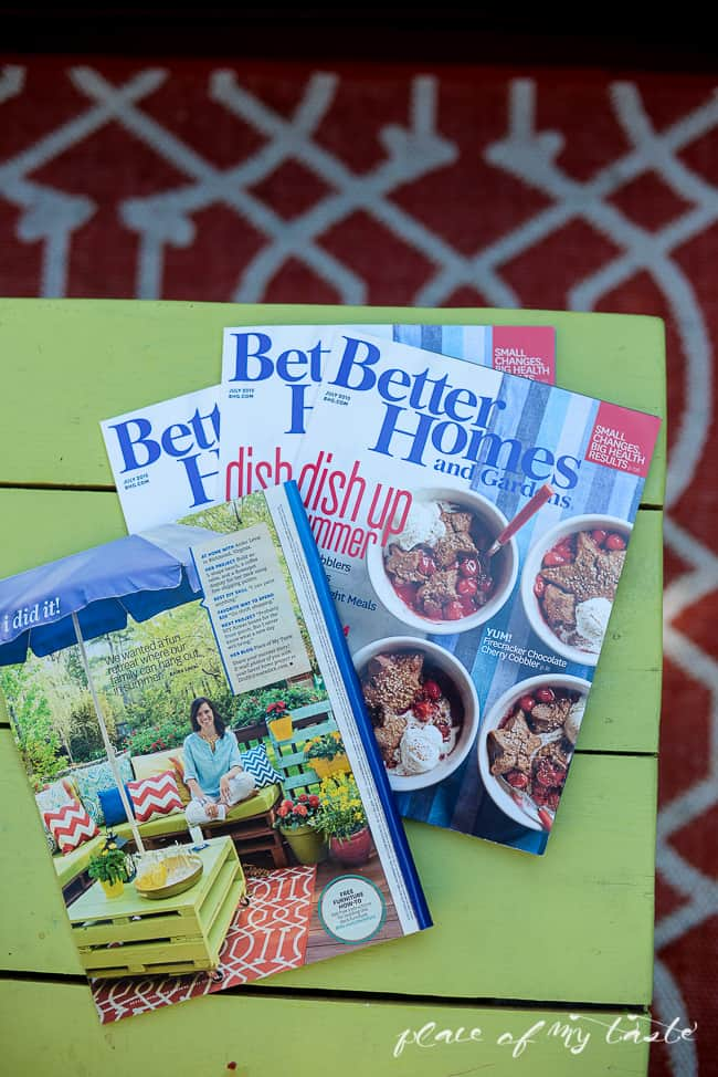 BETTER HOMES AND GARDENS FEATURE AND BEHIND THE SCENES PLACE OF MY