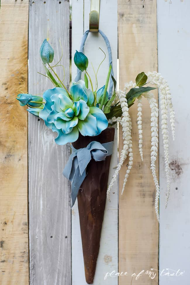 DIY FAUX WOOD DOOR DECOR-8