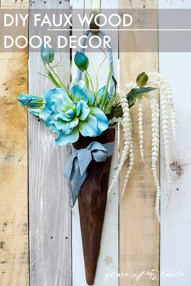 DIY FAUX WOOD DOOR DECOR