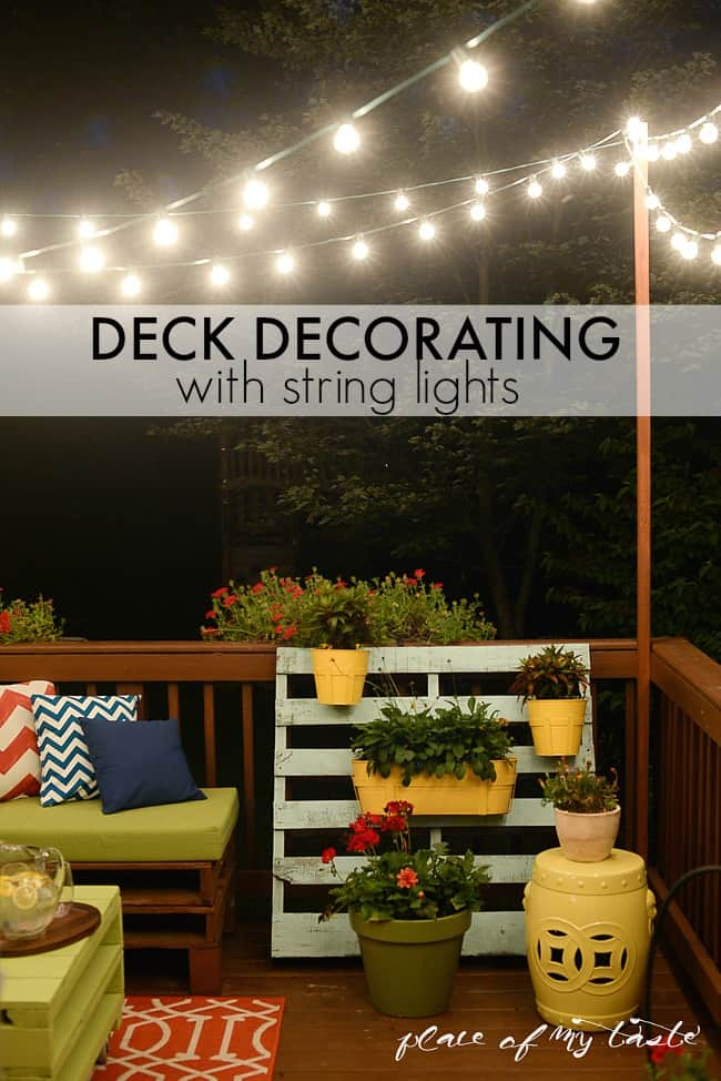 How To Hang String Lights Stunning HANG STRING LIGHTS ON YOUR DECK AN EASY WAY