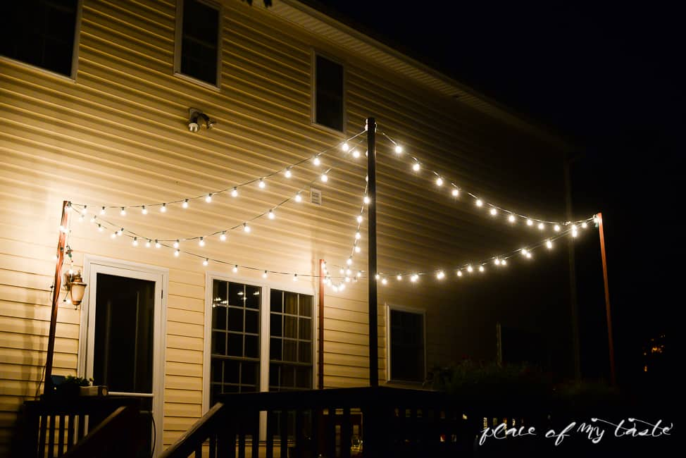 How To Hang String Lights Custom HANG STRING LIGHTS ON YOUR DECK AN EASY WAY