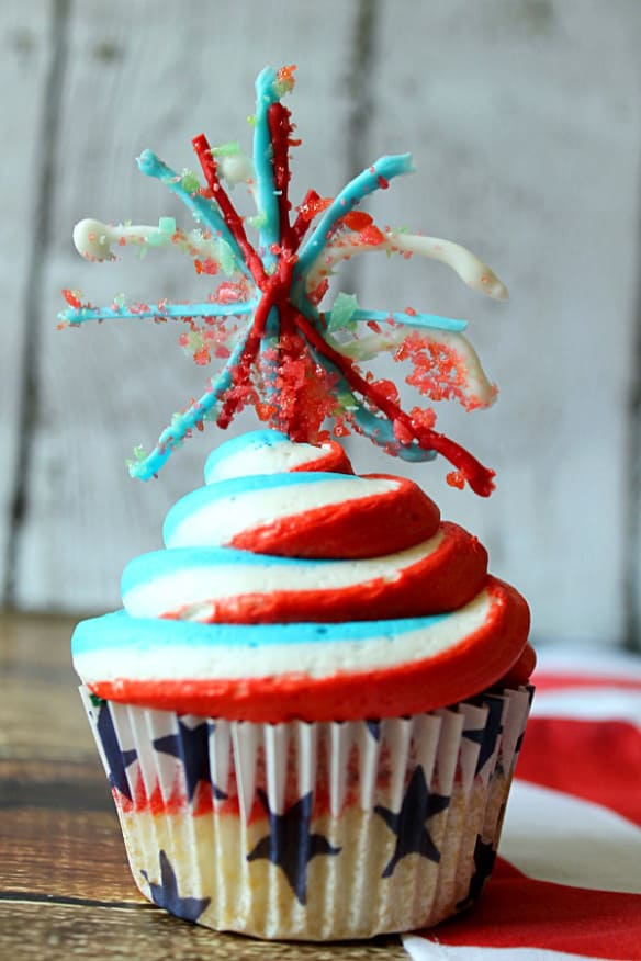 Fireworks-Cupcakes