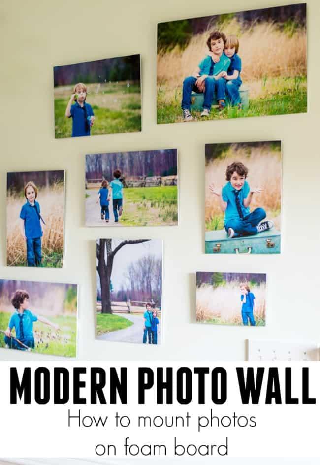 Modern photo wall