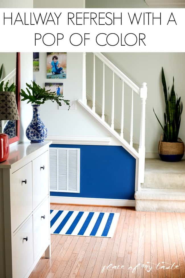 Pop of color in the hallway-