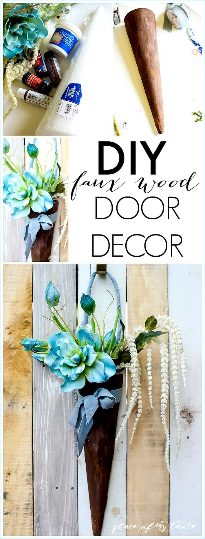 diy faux wood door decor-placeofmytaste.com