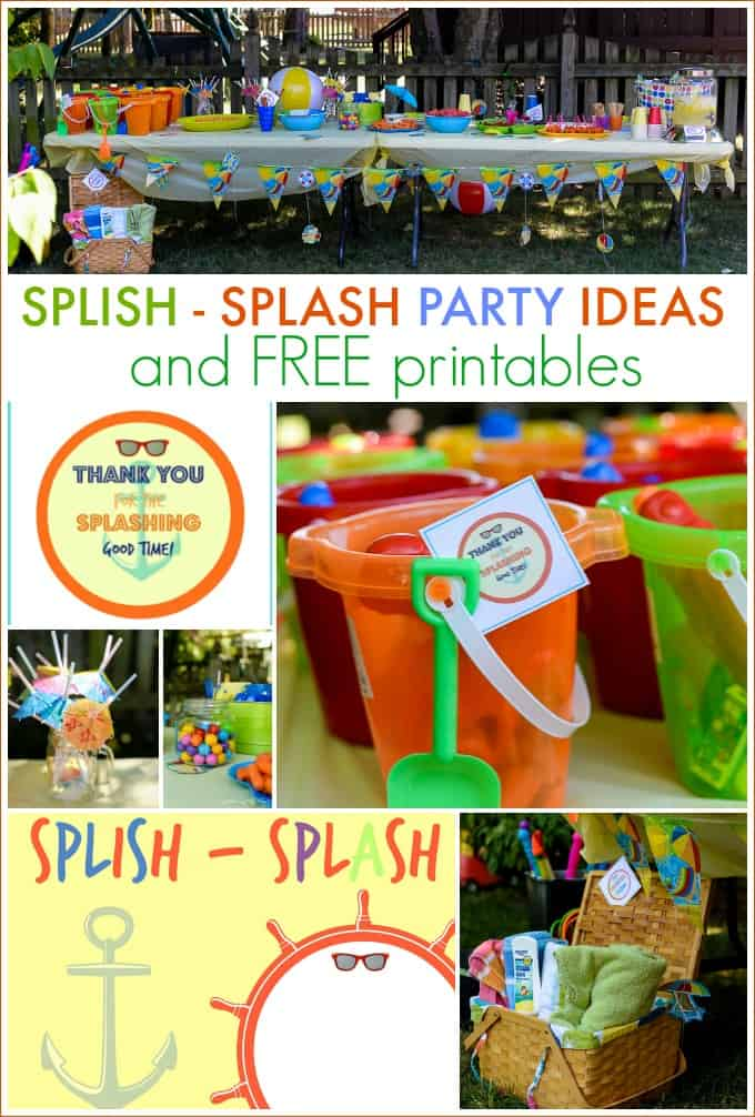 splish splash party ideas and free printables