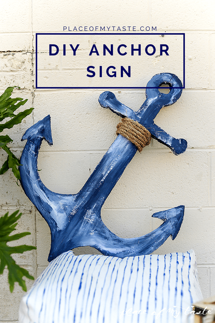 DIY ANCHOR SIGN