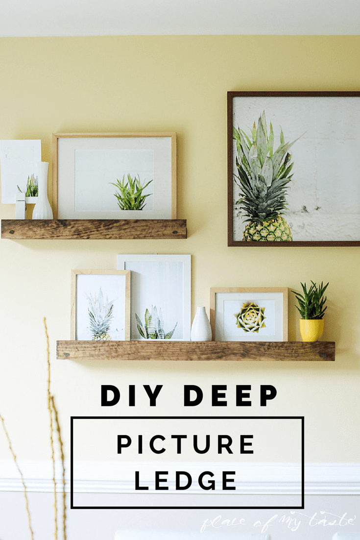 DIY DEEP PICTURE LEDGE